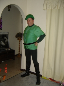 Damian as Robin Hood