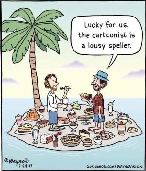 A dessert island from Writers Write